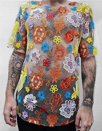 Camiseta Renda Color