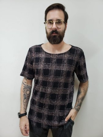 Camiseta Xadrez com Brilho