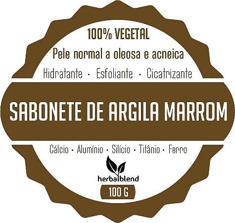 SABONETE VEGETAL ARGILA MARROM