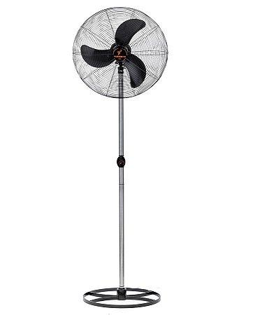 Ventilador de Coluna 65 cm Preto com Grade Em Pintura Epóxi Preta