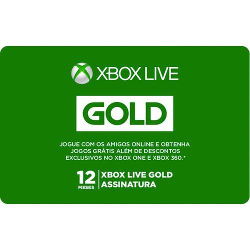 Pré-Pago Xbox Live Gold - 12 Meses (Leia a Descrição!)