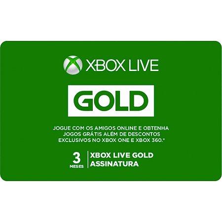 Pré-Pago Xbox Live Gold - 3 Meses (Leia a Descrição!)
