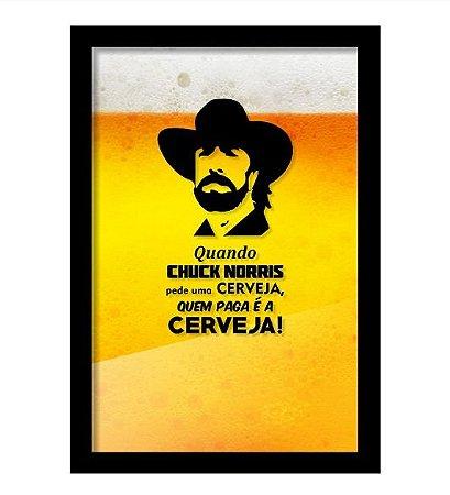 Quadro Porta Tampinha de Cerveja  Chuck Norris