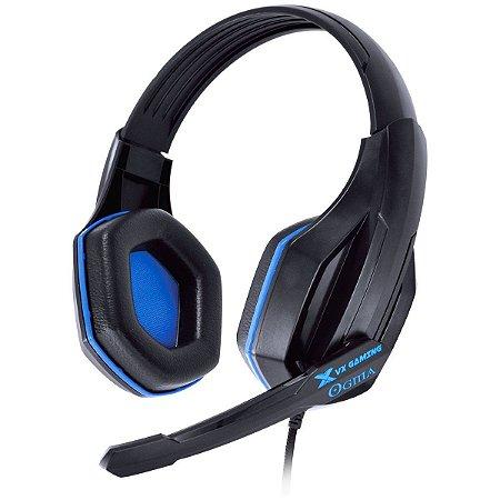 Headset Gamer PC Vx Gaming Ogma P2 Stereo Com Microfone - Preto e Azul