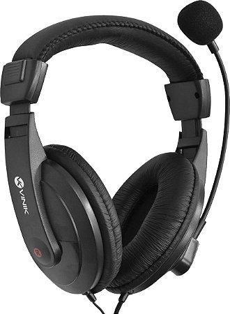 Fone Headhset PC Go Play FM35 Com Microfone - Preto