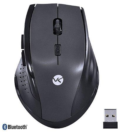 Mouse Sem Fio Híbrido 2.4 Ghz + Bluetooth 4.0 1200 DPI Dynamic Ergo Space Greay USB - DM122