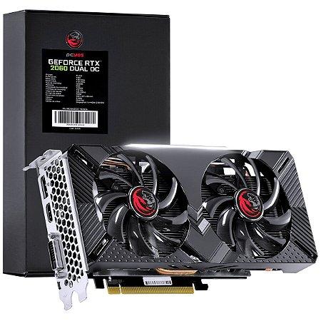 Placa de Vídeo NVIDIA RTX 2060 Dual OC GDDR6 6GB 192 Bits