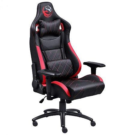 Cadeira Gamer Mad Racer V10 Preto com Vermelho Rodas em Gel