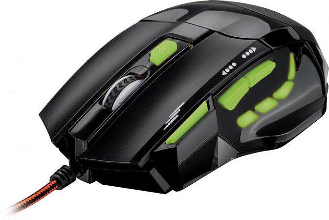 Mouse Laser Gamer Perfomance USB 2400DPI MO208 Preto