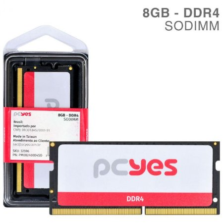 Memória Pcyes Sodimm 8GB DDR4 2400MHZ