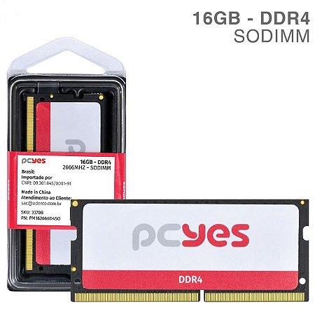 Memória Pyces Sodimm 16GB DDR4 2666MHZ