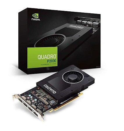 Placa de Vídeo Nvidia Quadro P2000 5GB GDDR5 160 BITS 4 Display Port VCQP2000-PORPB - Suporta até 4 Monitores/TV