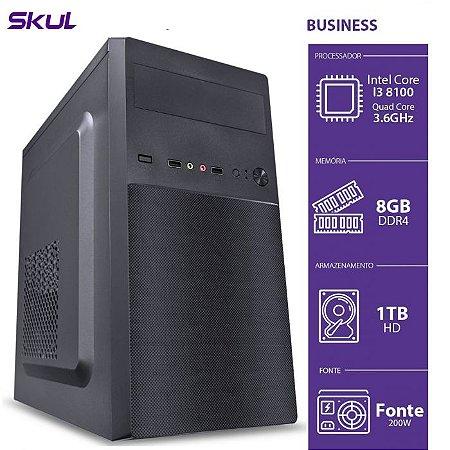 Computador Business B300 I3 8100 3.6GHZ 8GB DDR4 HD 1TB