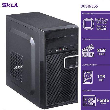 Computador Business B300 - I3-4130 3.4GHZ 8GB DDR3 HD 1TB HDMI/VGA Fonte 200W - B41301T8