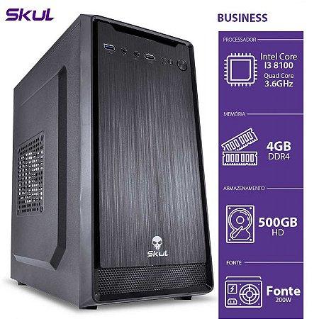 Computador Business B300 - I3-8100 3.6GHZ 4GB DDR4 HD 500GB HDMI/VGA Fonte 200W
