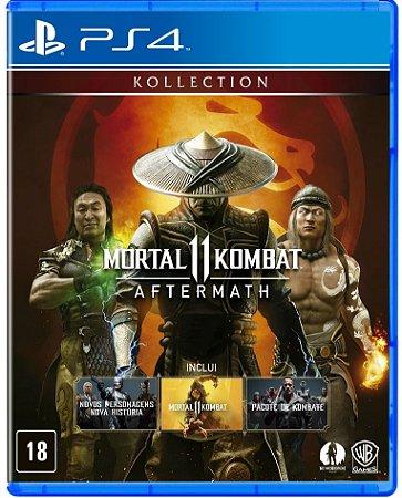 Mortal Kombat 11 Aftermath PS4  Mídia Física