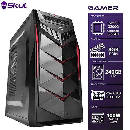 Computador Gamer 3000 Ryzen 3 3200G 3.6GHZ Mem 8GB SSD 240GB