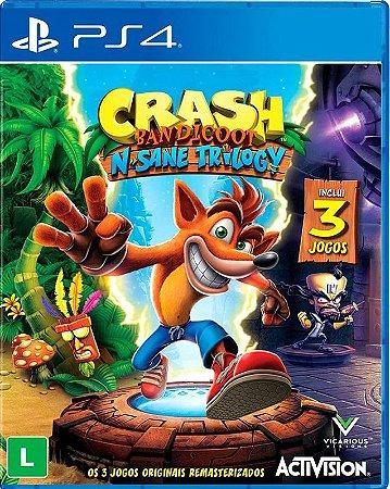 Crash Bandicoot N Sane Trilogy PS4  Mídia Física