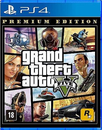 Grand Theft Auto V Premium Edition GTA 5 PS4 Mídia Física