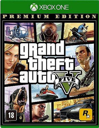 Grand Theft Auto V Premium GTA 5 Xbox One Mídia Física