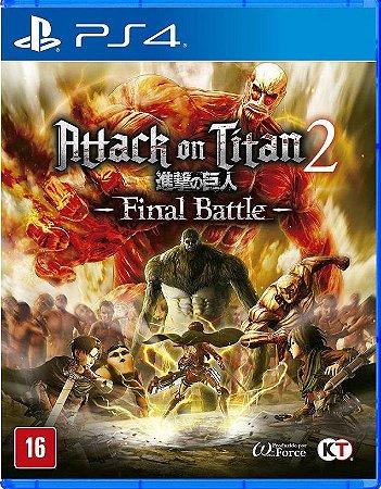 Attack on Titan 2 Final Battle PS4  Mídia Física