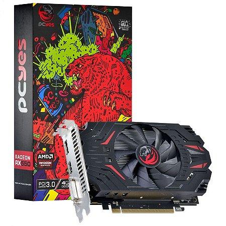 Placa de Vídeo AMD Radeon RX 550 4GB GDDR5 128 Bits