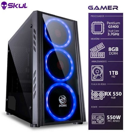 Computador Gamer 1000 Pentium G5400 3.7GHZ 8ª GER