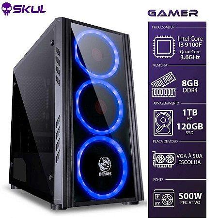 Computador Gamer 3000 I3 9100F 3.6GHZ MEM 8GB DDR4 SSD 120GB