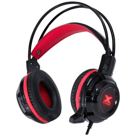 Fone Headset VX Gaming TaranisV2 P2 Microfone Preto Vermelho