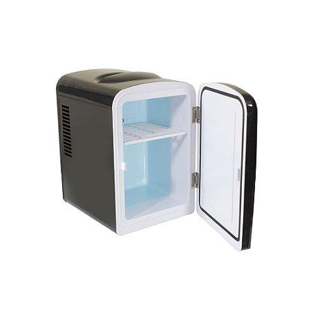 Mini Refrigerador e Aquecedor Kx3 Portátil 12V 110/220V 4L Preto