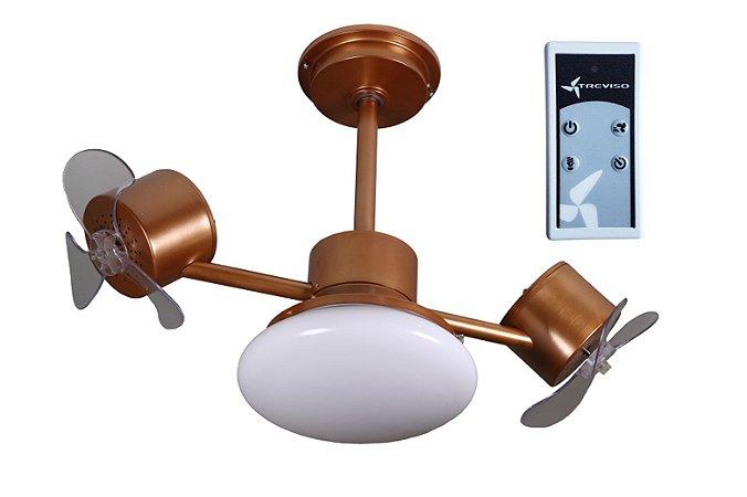 Ventilador de Teto Treviso Infinit Plus Cobre com Controle Remoto e  iluminação Led