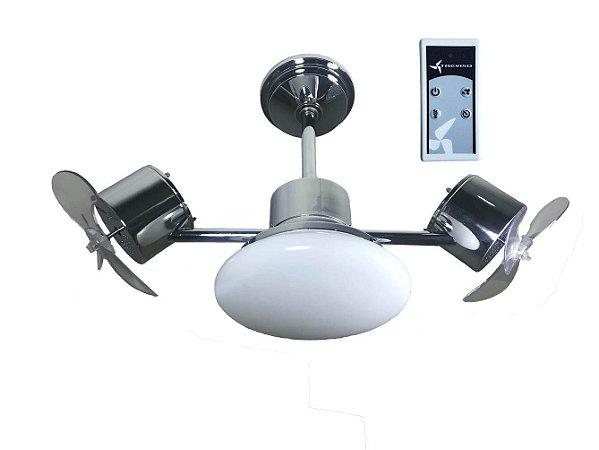 Ventilador de Teto Treviso Infinit Plus Cromado com Controle Remoto e iluminação Led