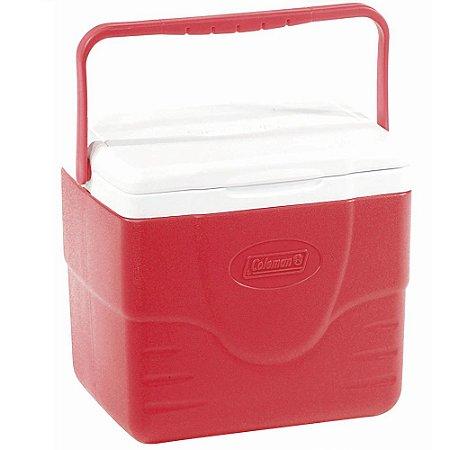 Caixa Térmica Coleman 9 QT 8,5 Litros Vermelha Tampa Articulada