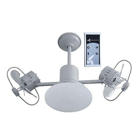 Ventilador de Teto Treviso Infinit Plus Prata com Controle Remoto  e iluminação Led