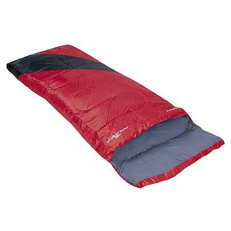 Saco De Dormir Nautika Liberty 4ºC A 10ºC Vermelho e Preto