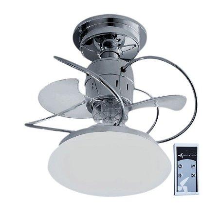 Ventilador de Teto Treviso Atenas Cromado com Controle Remoto