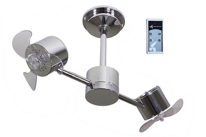 Ventilador de Teto Treviso Infinit Cromado com Controle Remoto