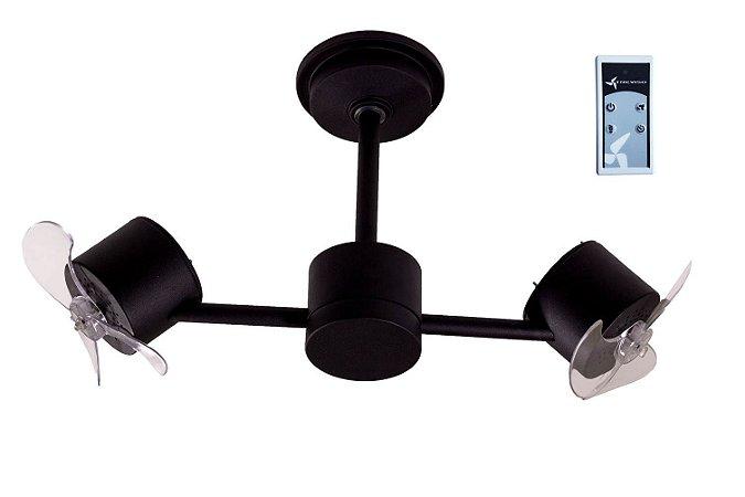 Ventilador de Teto Treviso Infinit Preto com Controle Remoto