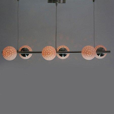 Luminária pendente escovado 303/6 - Treviso Luce