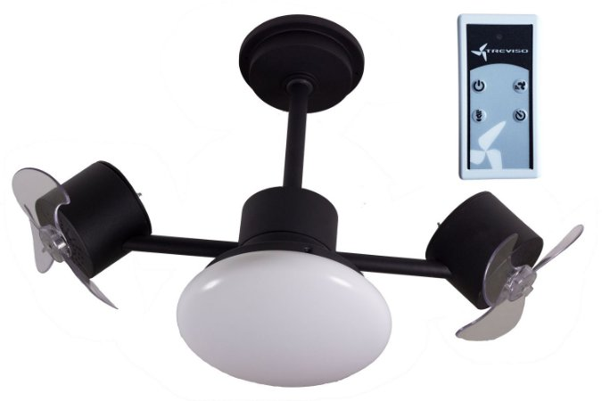Ventilador de Teto Treviso Infinit Plus Preto com Controle Remoto e Iluminação LED