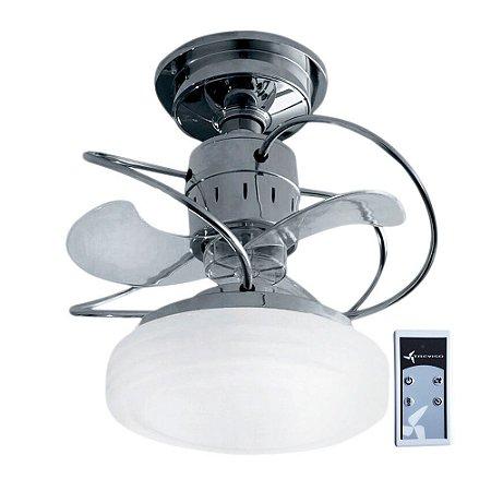 Ventilador De Teto Treviso Bali Cromado com Controle Remoto e iluminação LED