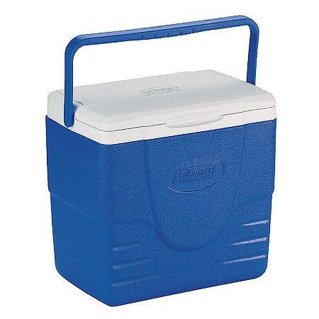 Caixa Térmica Coleman 16 QT 15,2 Litros Azul com Tampa Articulada