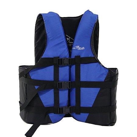 Colete Salva Vidas Nautika Coast Até 110KG Azul e Preto