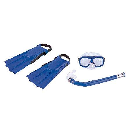 Kit Nautika De Mergulho Infantil Divers Azul