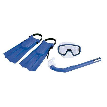 Kit Nautika De Mergulho Infantil Pacific Azul