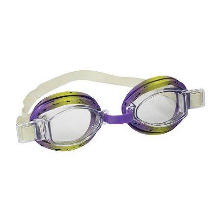 Óculos Nautika De Natação Split Roxo e Amarelo