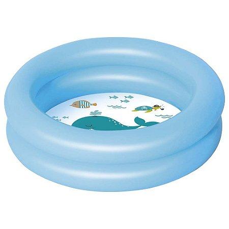 Banheira Inflável Mor 28 litros Azul