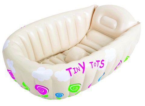 Banheira Para Bebe Mor Com Termômetro E Apoio Bege