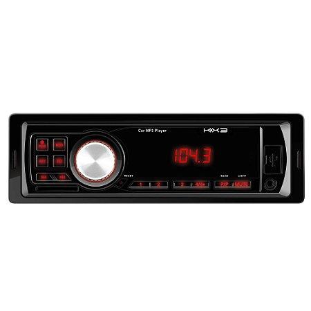 Rádio Automotivo KX3 Com Entrada MP3/USB/SD