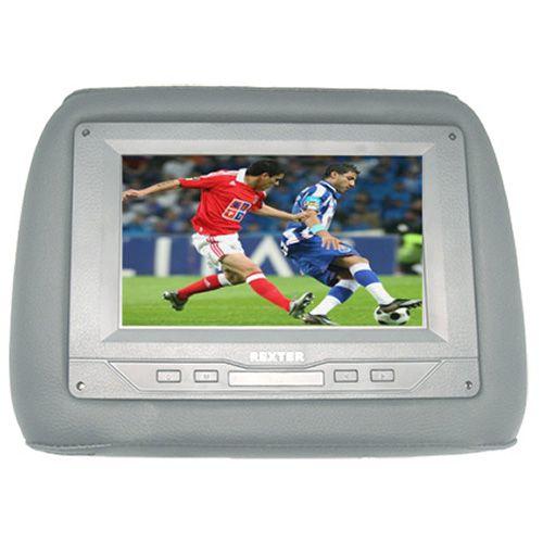 Encosto de Cabeça Rexter com Tela LCD 7 Pol Cinza